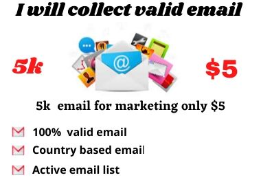 I will collect valid email for Business