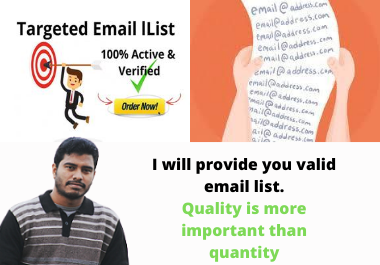 collect 1k niche targeted active email list for your business marketing
