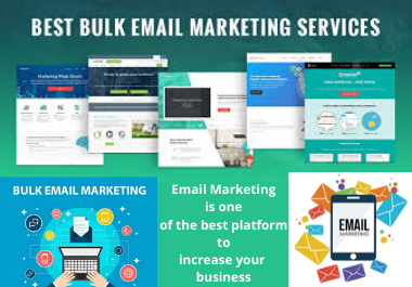 I will send to 20,000 bulk emails and email marketing services