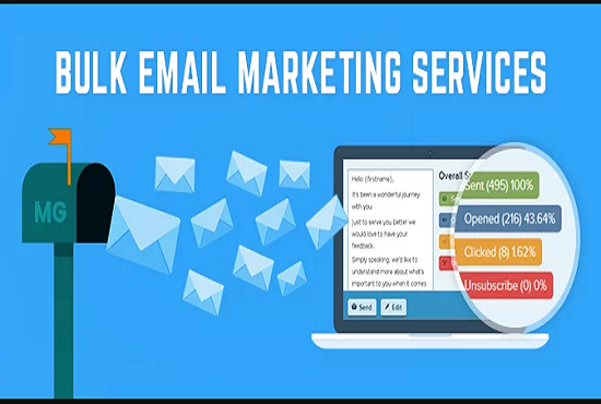 I will send 5k bulk email and provide email service