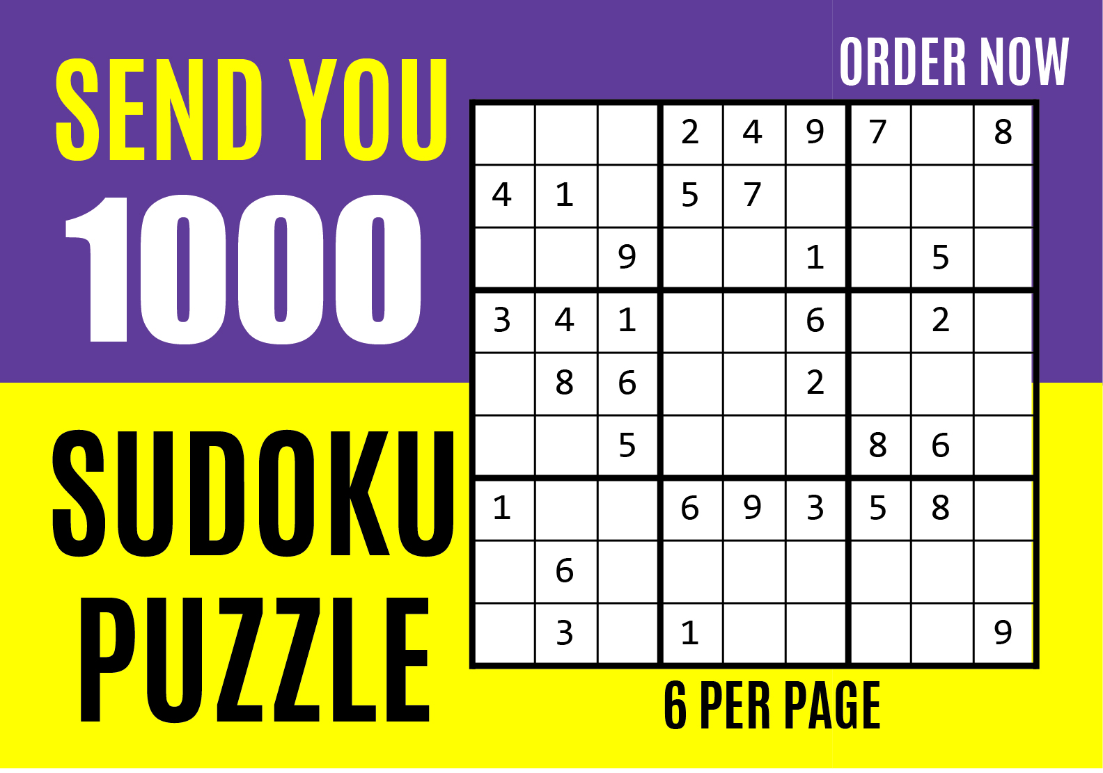 Send you 1000 sudoku puzzles with solutions