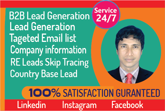 I will do B2B lead generation and build GEO targeted Email