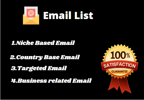 I will collect niche targeted email address list organically