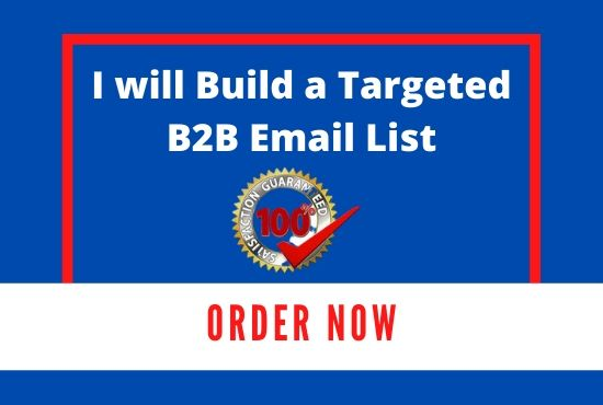 I will b2b lead generation and build the quality