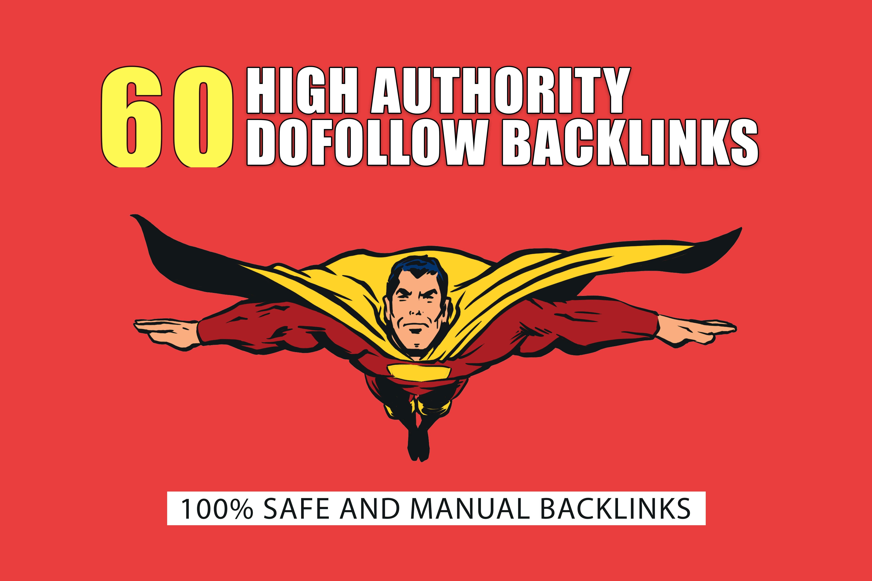 I will do 50 high authority dofollow backlinks manually