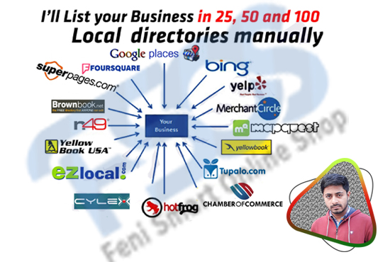 I will manually local citation, directory submission upto 100sites