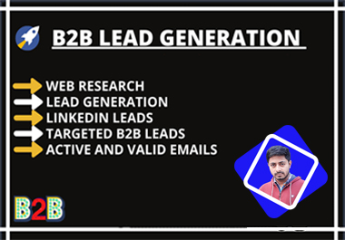 I will b2b lead generation and GEO targeted lead prospecting
