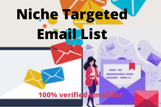 I will provide niche 1k targeted email list for your Business