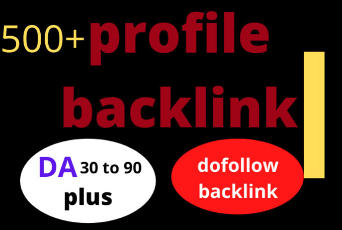 I will do 500 high authority SEO profile backlinks