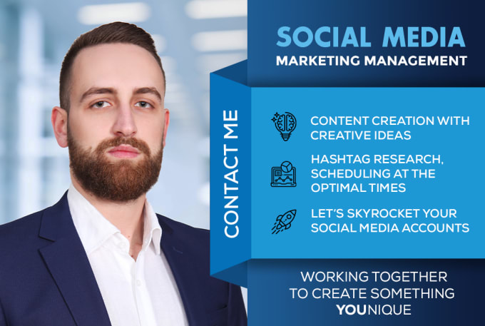 I will do your social Media Marketing Manager
