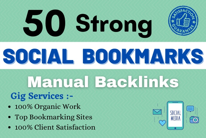 I will do 50 social bookmarking on high da backlinks