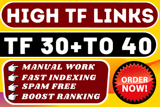 I will make high tf homepage SEO backlinks