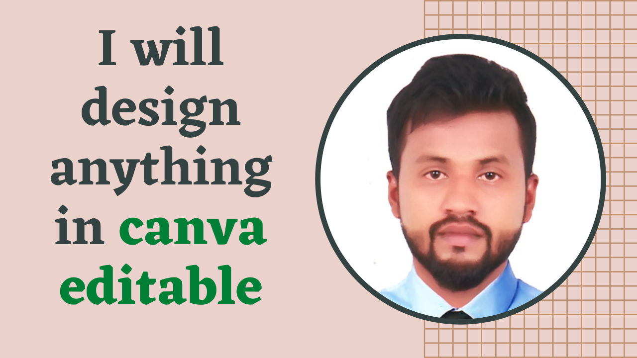 I will design anything in canva editable