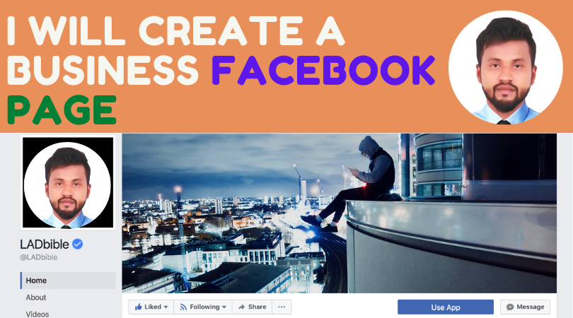 I will create a business Facebook page