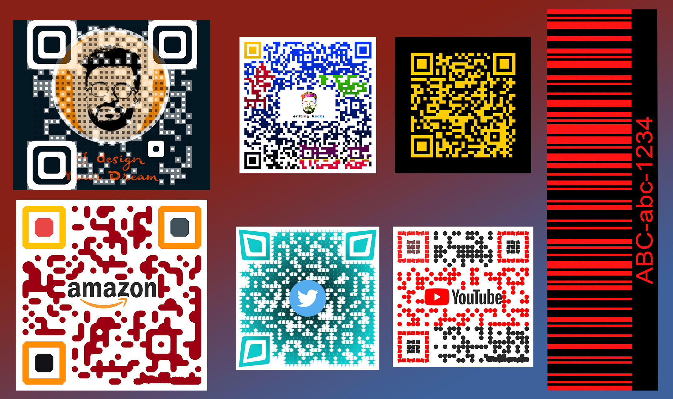 I will create unique professional custom qr code and barcode design