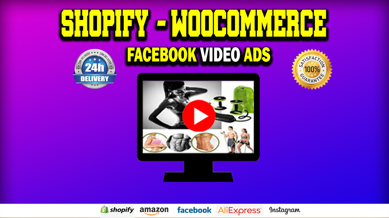 I will make dropshipping products video ad for FB