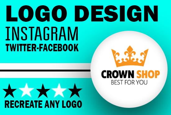 I will do professional instagram, twitter or facebook logo design