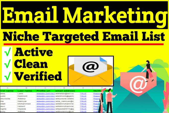 I will provide per 1k $1 an active niche targeted email list