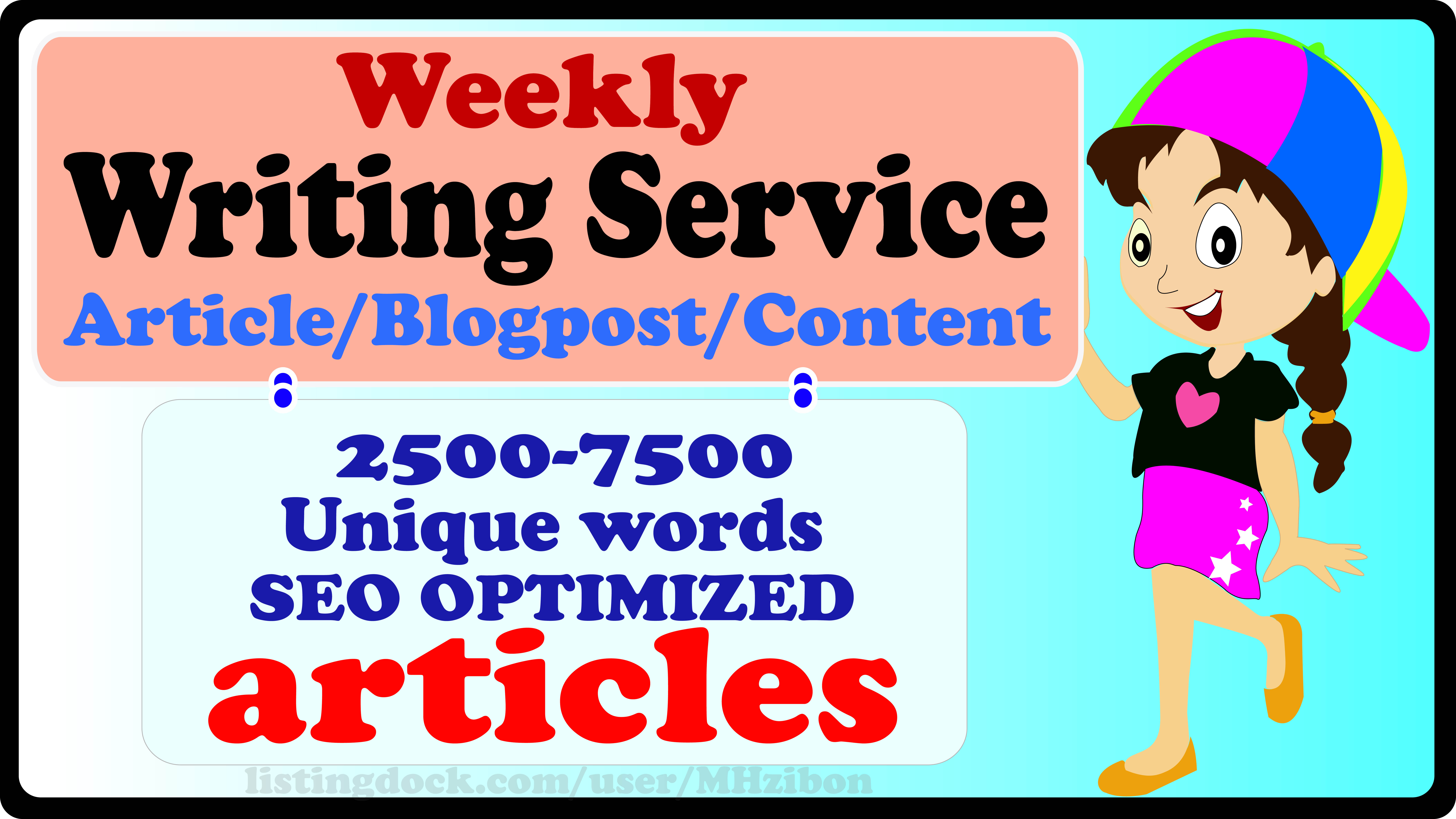 Weekly Article Writing Service- Rank Up Your Website