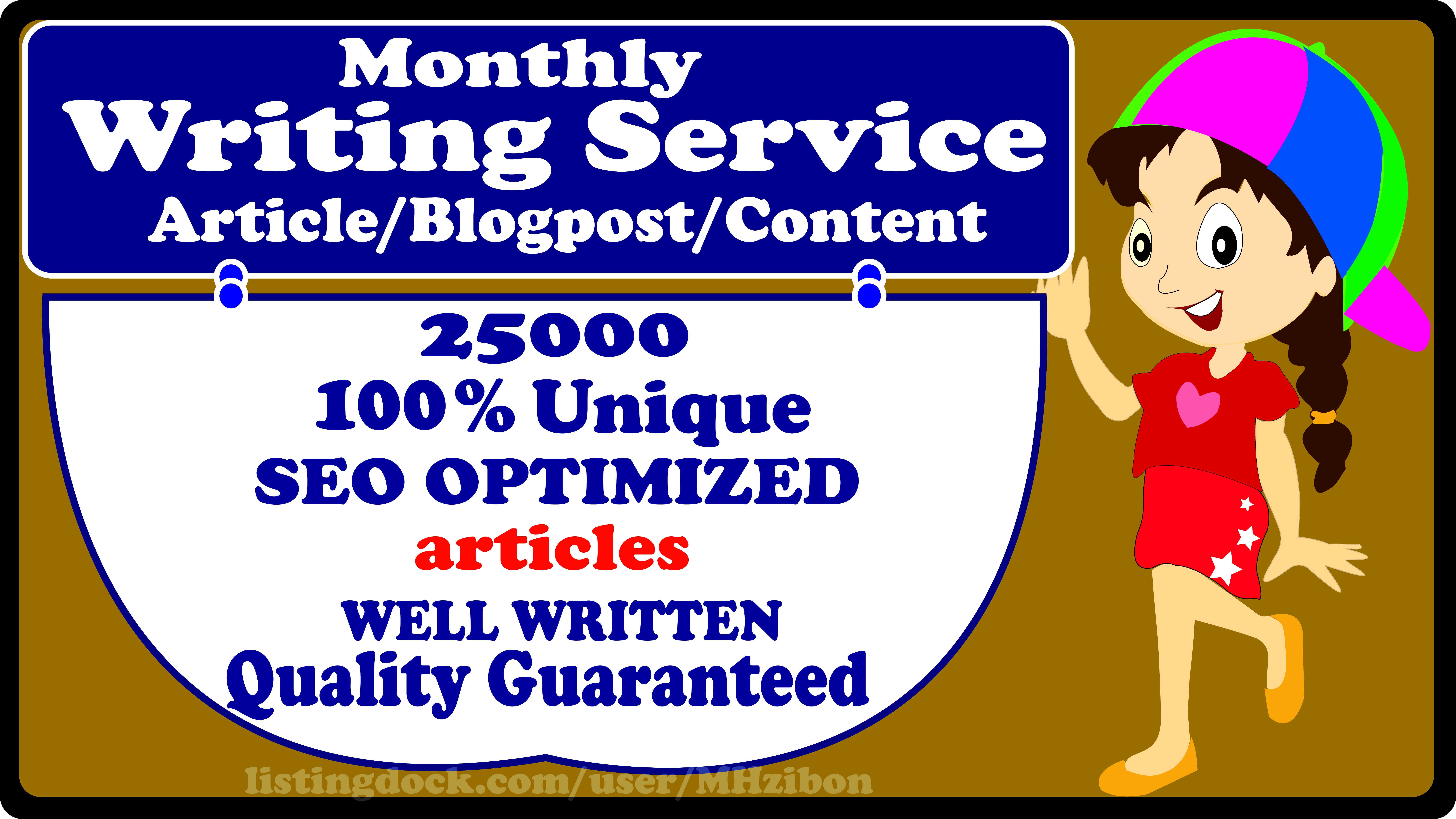 Monthly Article Writing Service- Biggest Boost your Website