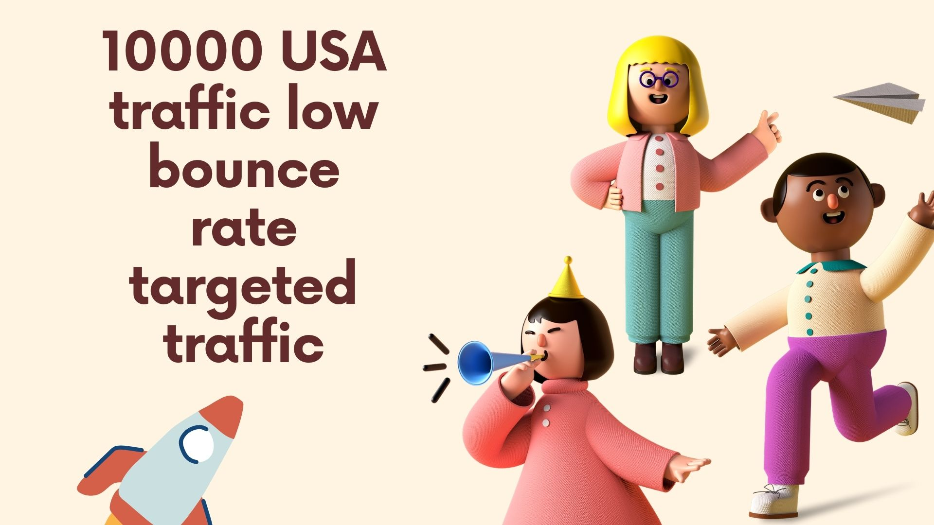 10000 USA traffic low bounce rate targeted traffic