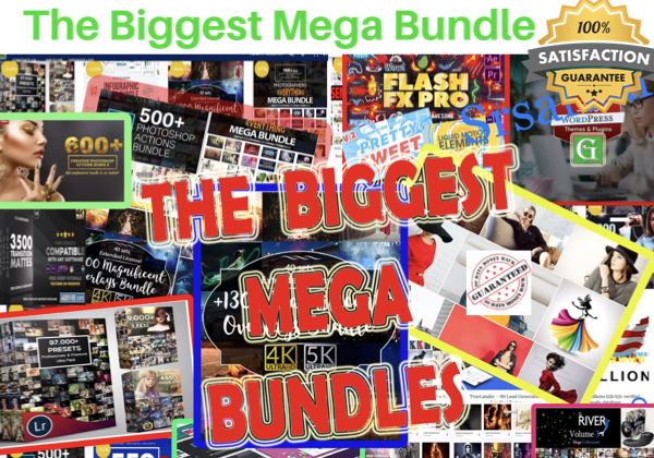 I will send 35 digital product mega bundle million dollar worth pack