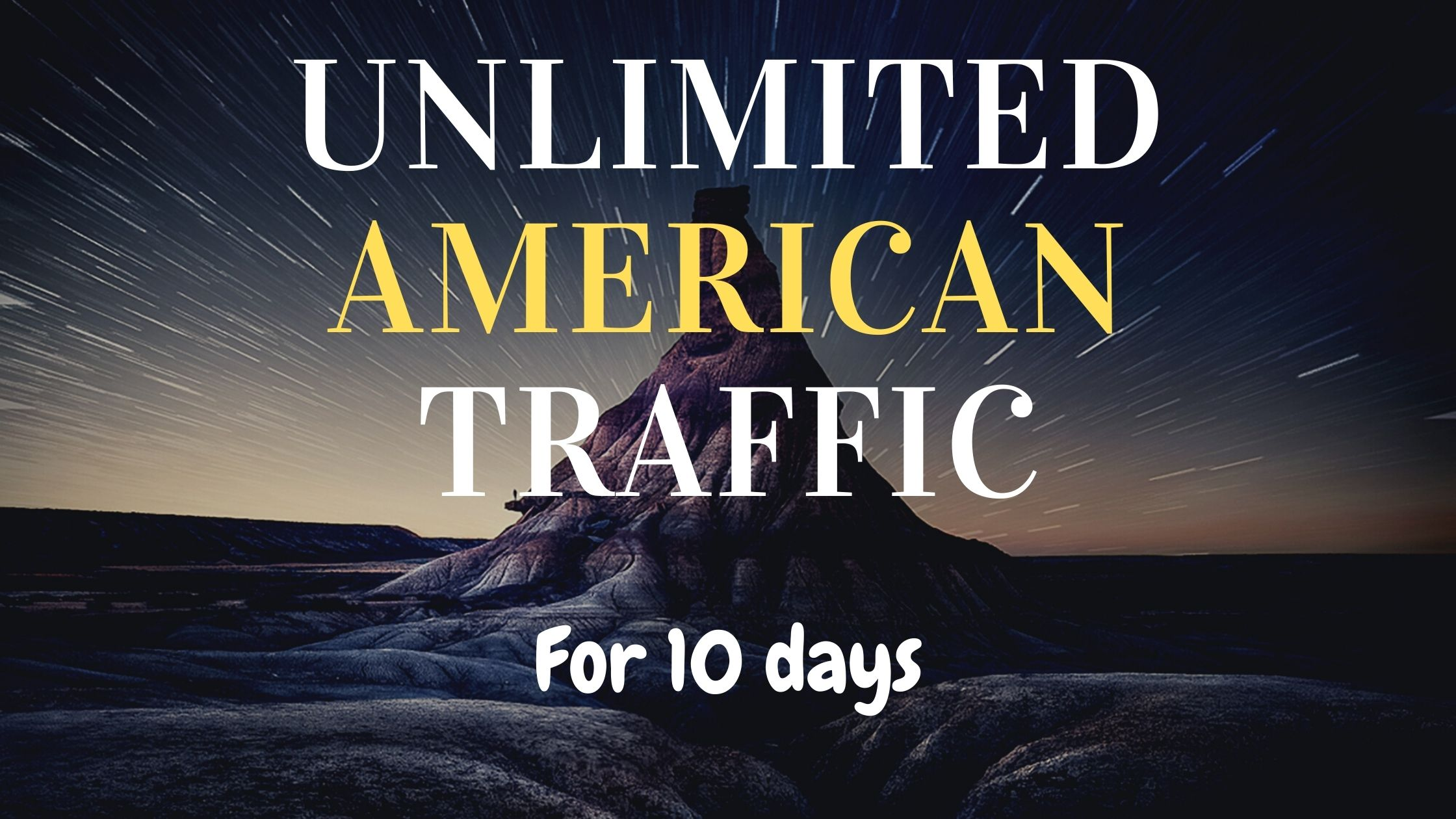 Unlimited American traffic for Boost your website