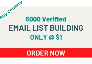 I Will Give You 5000 Verified Email List