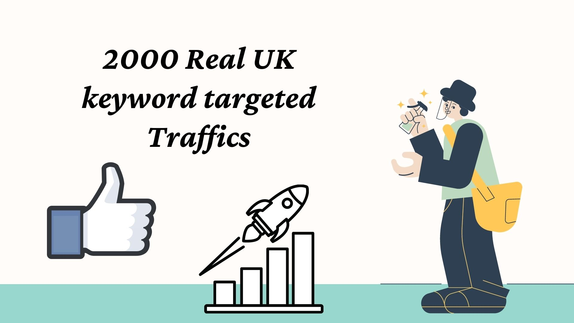2000 Real UK keyword targeted Traffics
