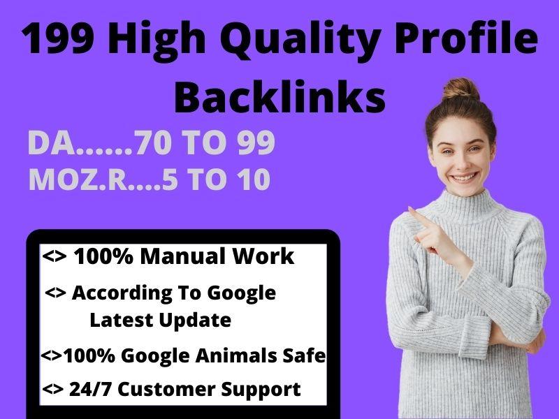 Create 199+ High Quality Profile Backlinks
