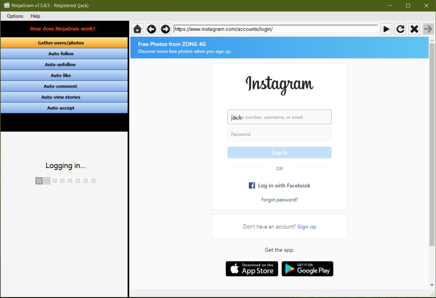 NinjaGram best bot software in GROW INSTAGRAM