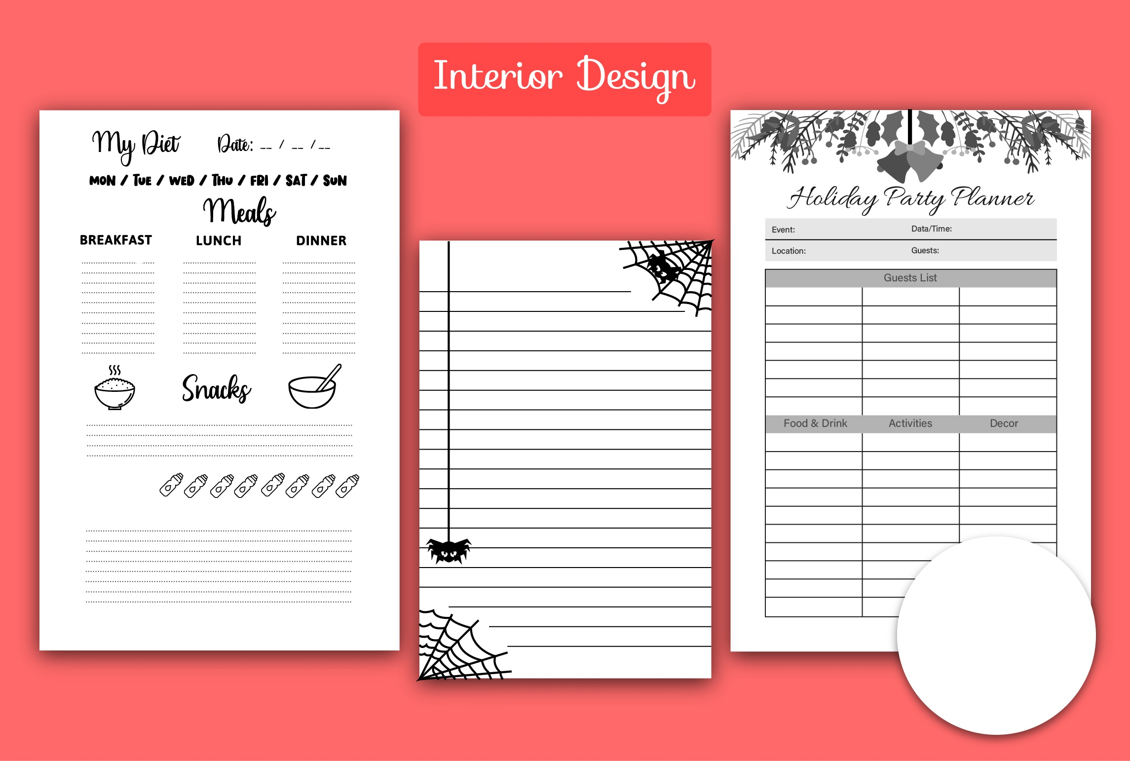 I will do kdp low content book cover design with custom interior
