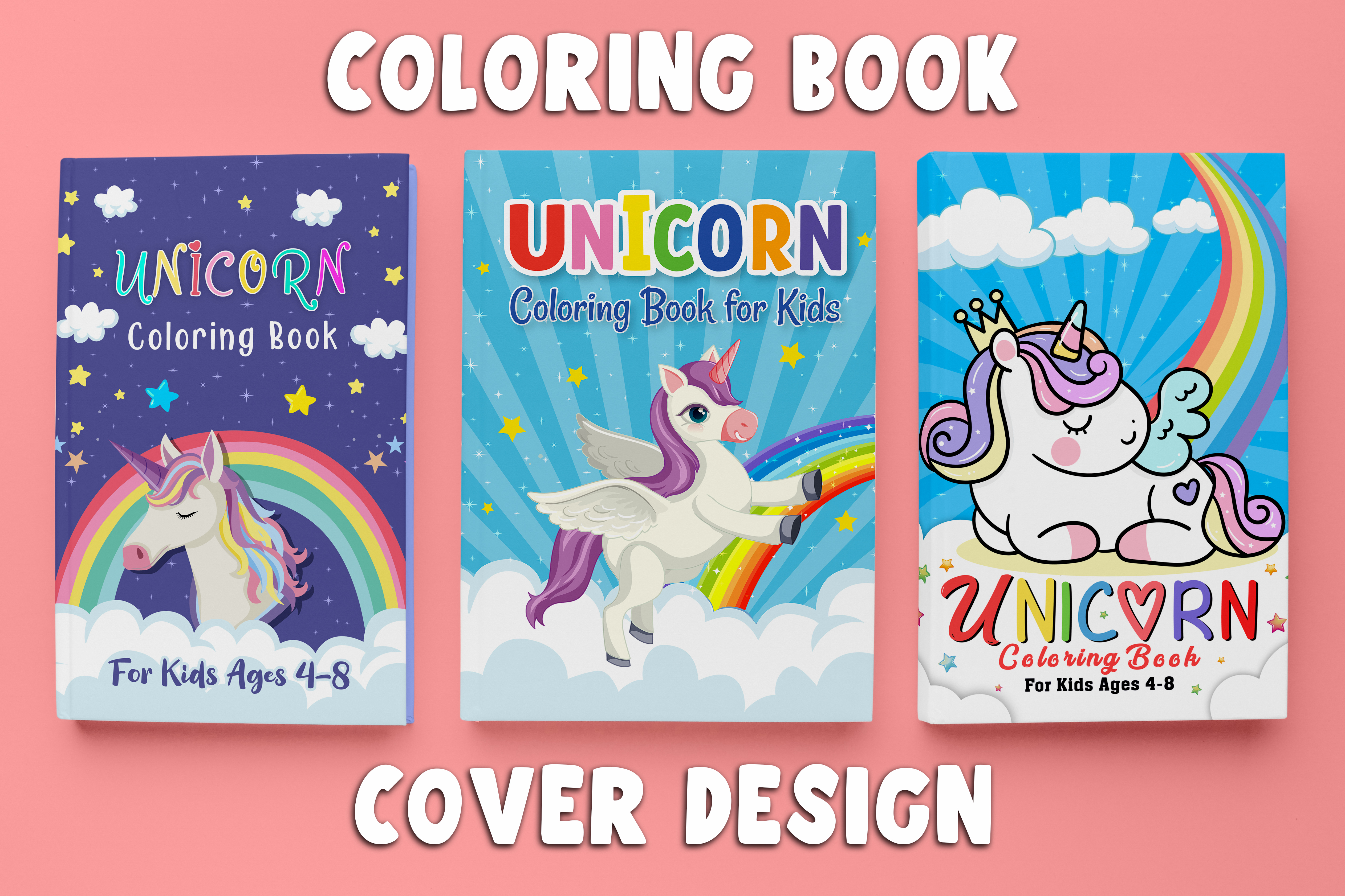 I will do coloring book cover design for your kdp business