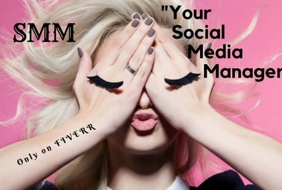 I will be your social media marketing manager and content designer