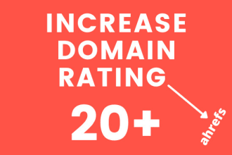 I will increase domain rating ahrefs to dr 20 plus