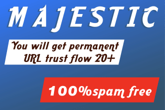 I will increase your url trust flow 20 plus with high tf backlinks