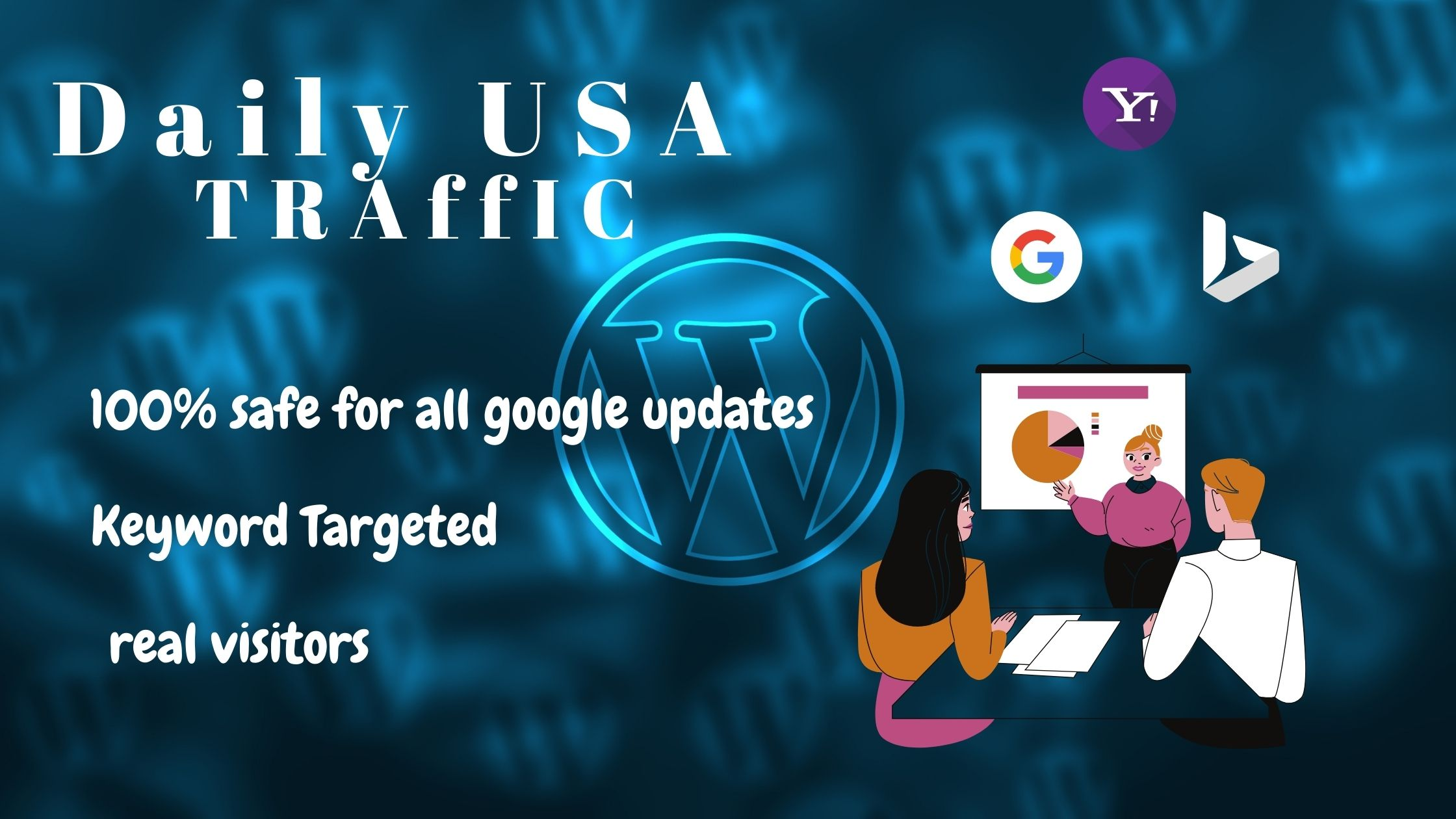 Daily usa target traffic for your business website / Store