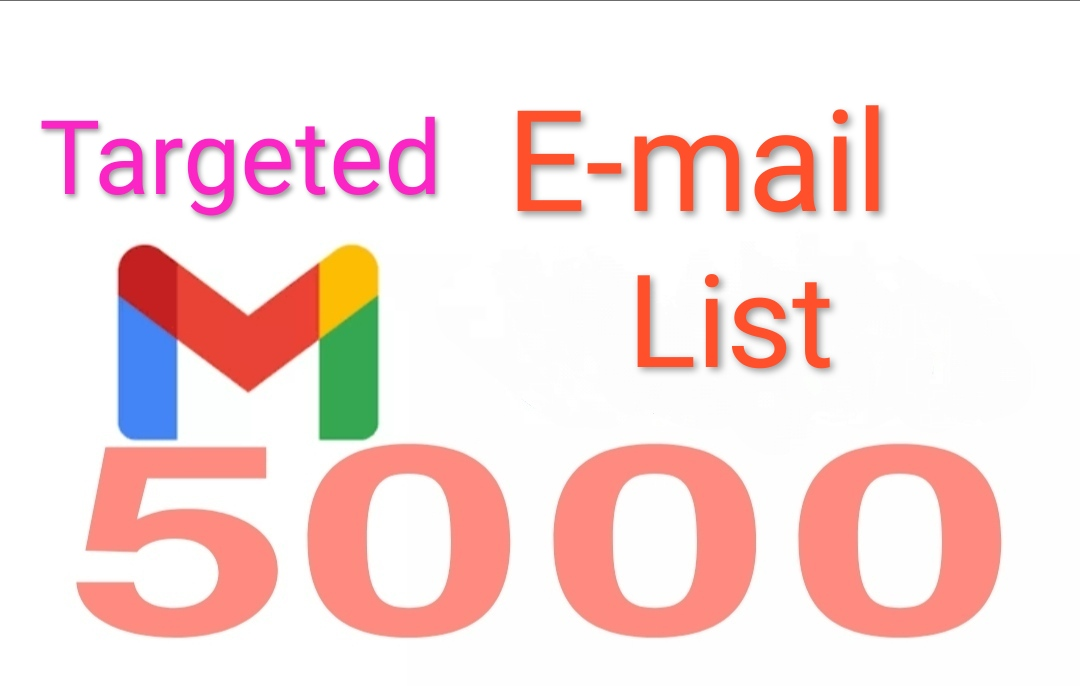 I will provide you niche targeted email list and email marketing