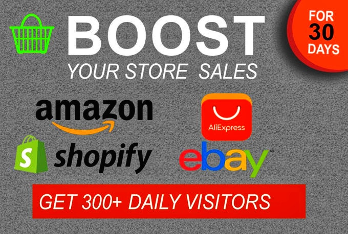Drive Unlimited real Traffic to you Amazon eBay etsy Shopify store for 30 days