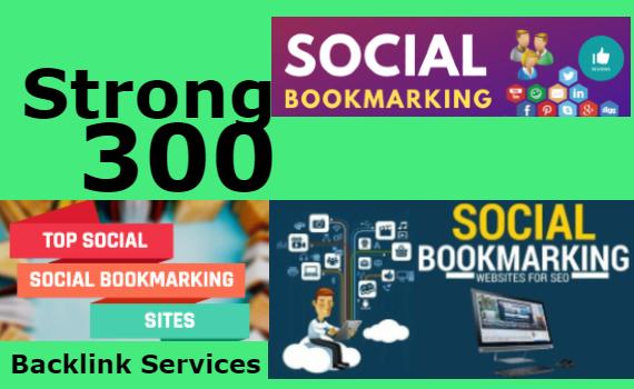 I will create manually HQ 300 social bookmarking backlinks