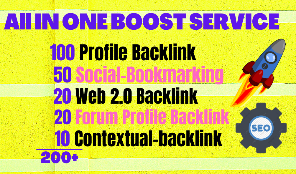 All In One Booster Services 200+ Manual Backlinks
