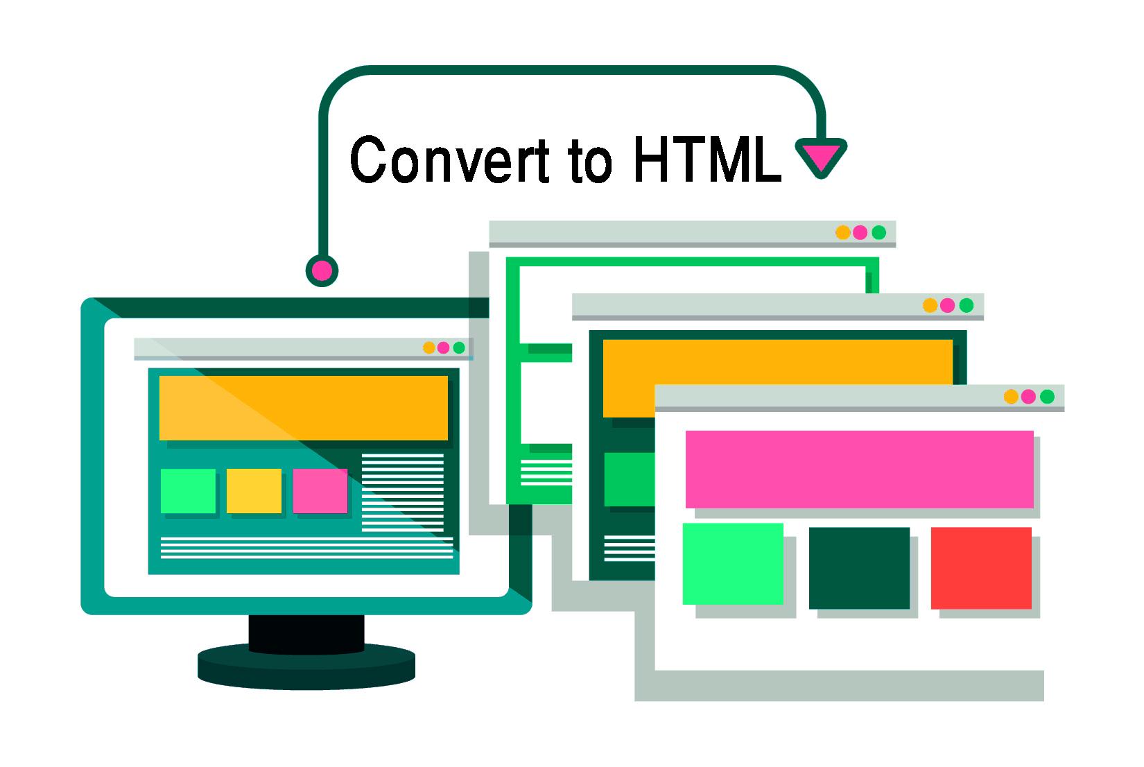 I will convert any website to HTML