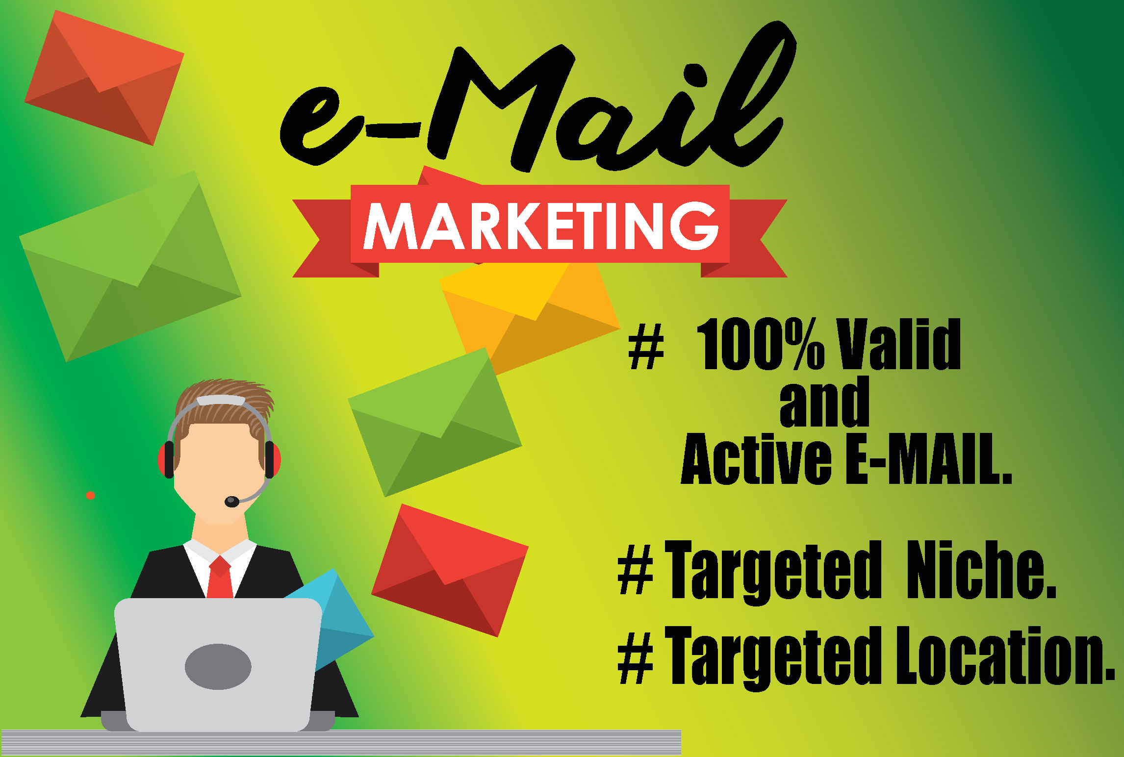 I will provide you 10000 niche targeted email list for your email marketing