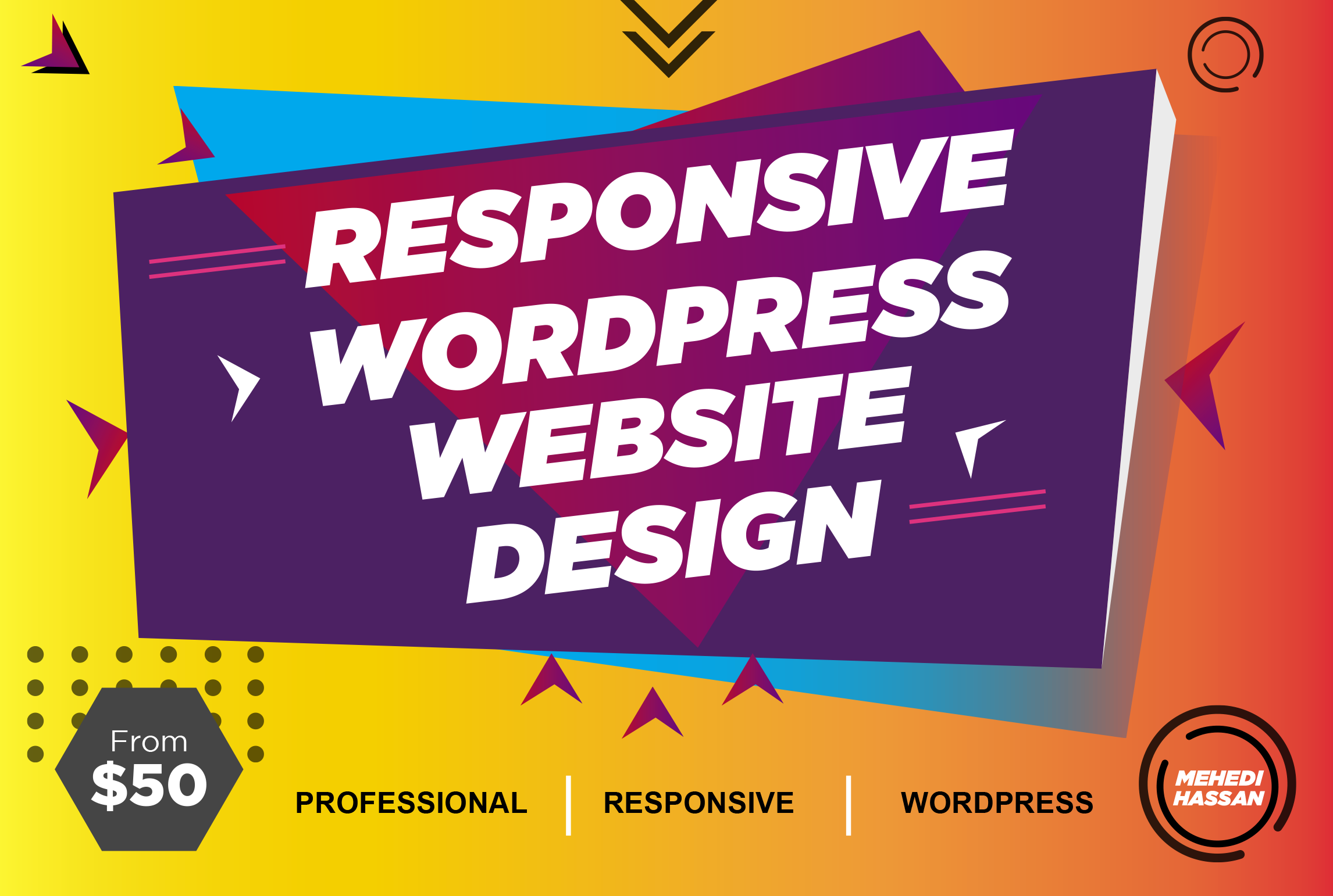 I will design a professional WordPress and ecommerce website