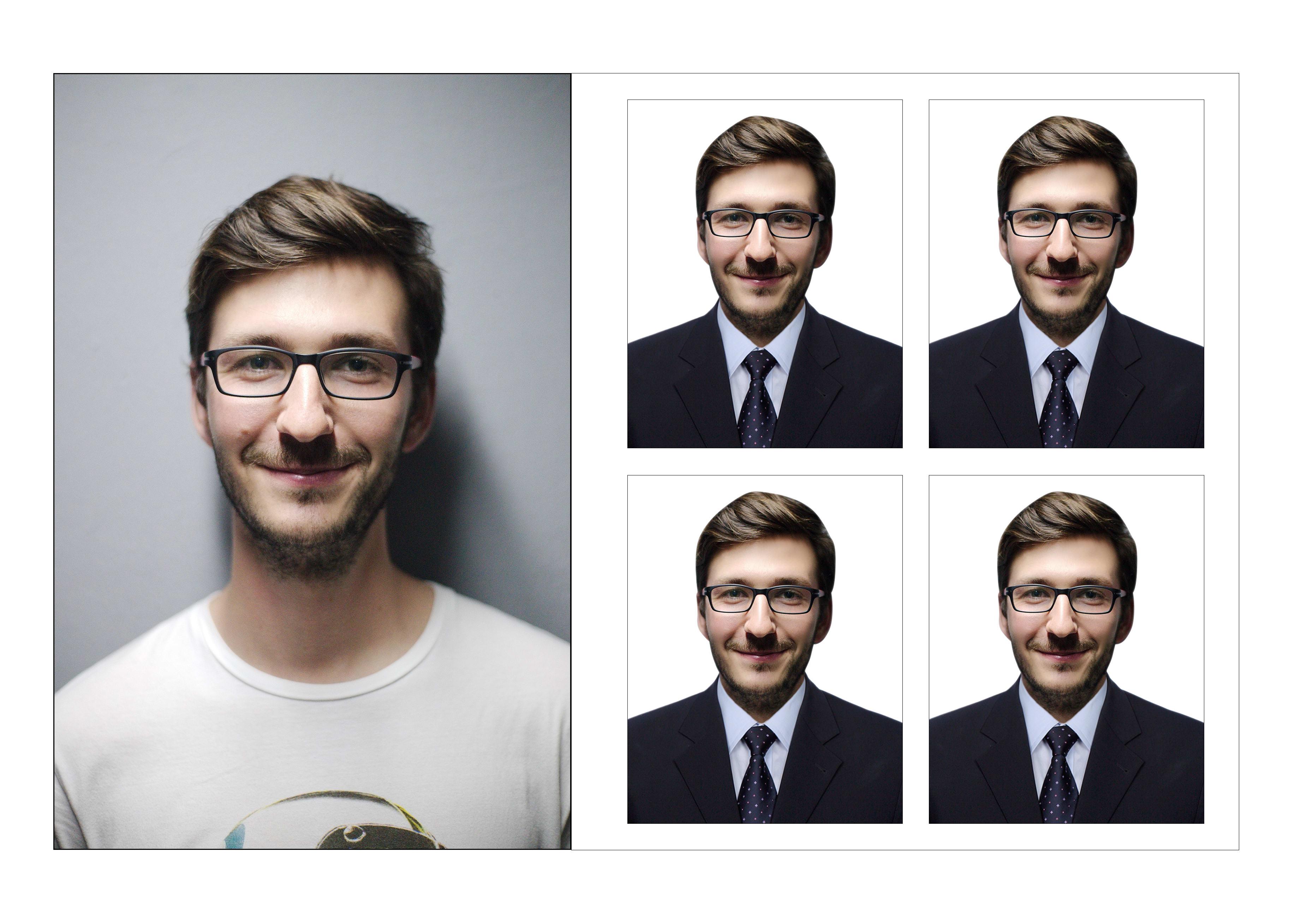 I will do passport size photo editing,  retouching with photoshop 2020