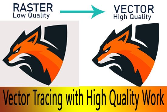 I will convert to vector tracing,  logo image into vector,  recreate,  redraw vectorize ai