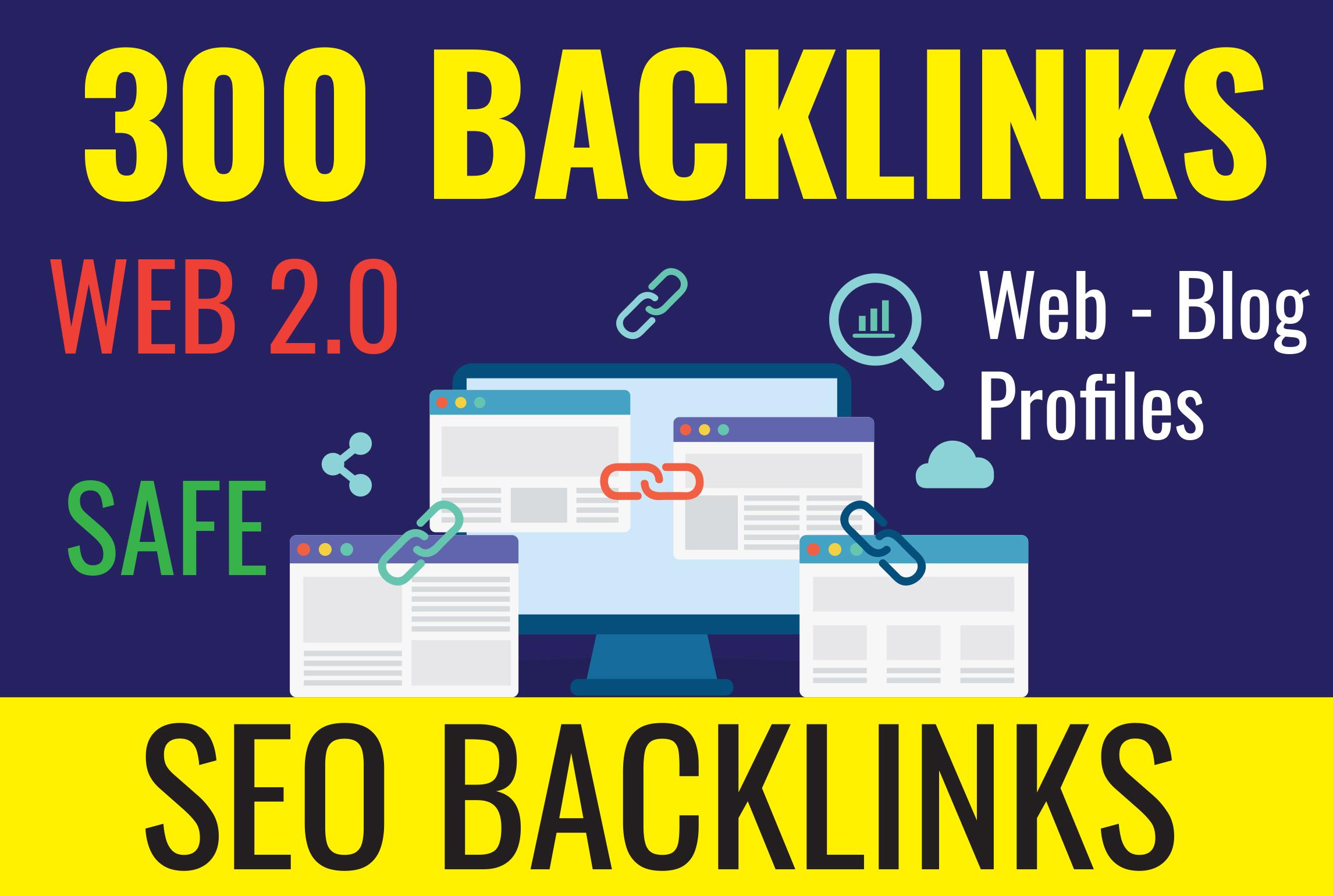 300 Powerfull Web 2.0 Backlinks helps to websites ranking Linkbuilding SEO