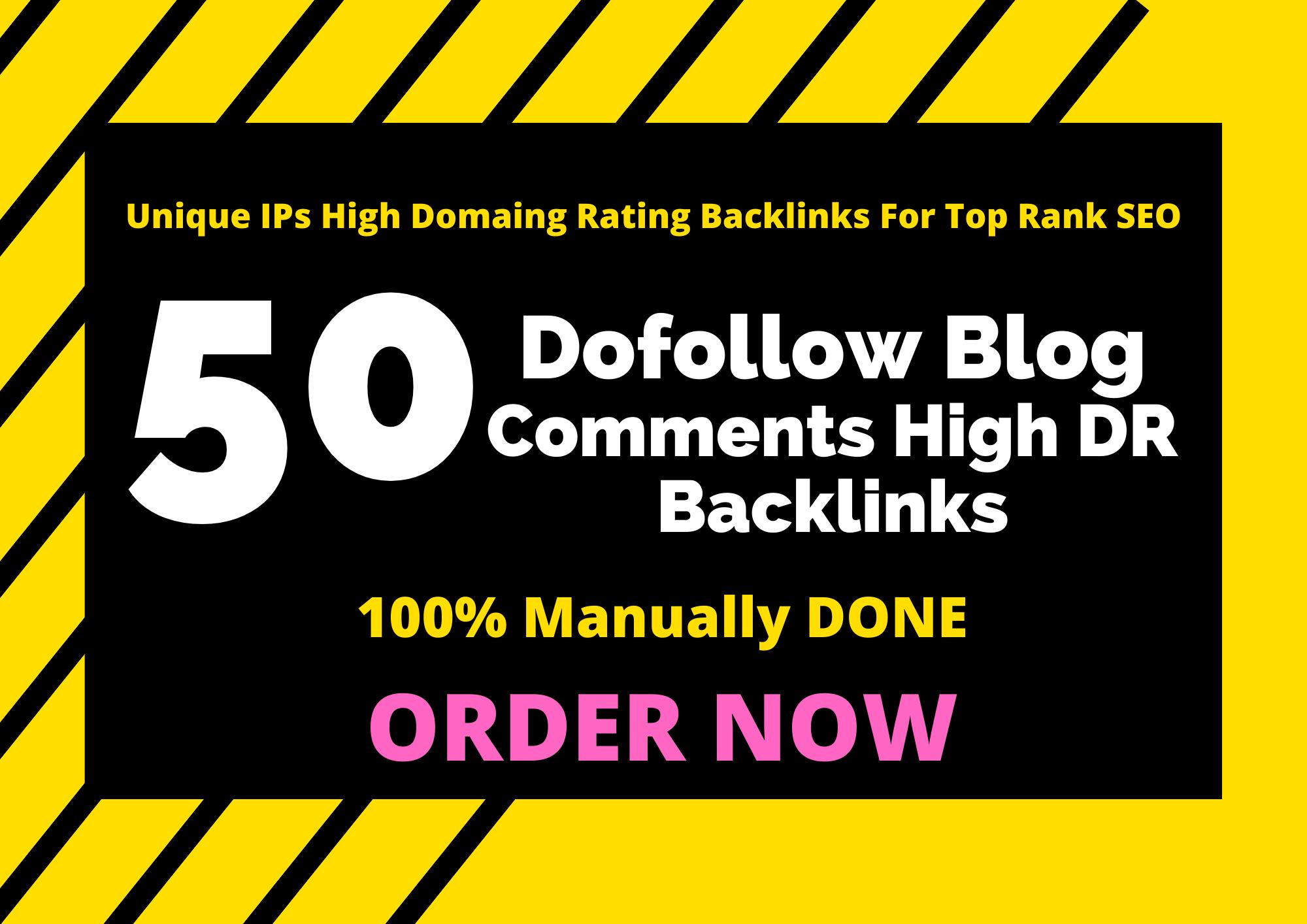 50 Super Blog Comments High DR Backlinks SEO