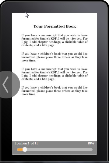 Format your book for Kindle KDP