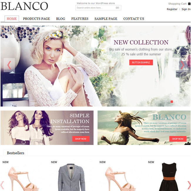 SEO ready responsive eCommerce website